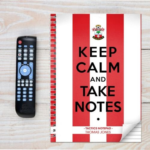 Personalised Southampton Keep Calm A4 Notebook